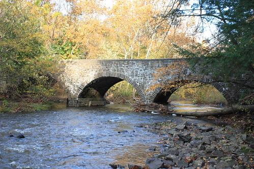 county autumn pa montgomery swampcreek stonearchedbridge lowerfredericktownship sunrisemill
