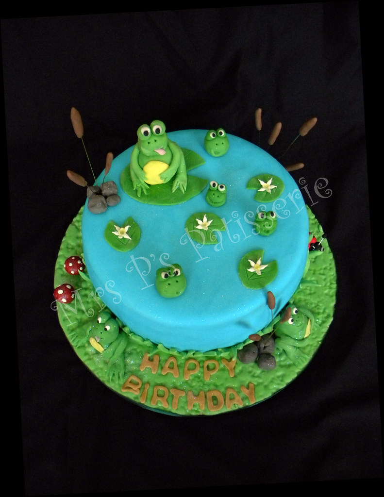 Admirable Frog Pond Scene Birthday Cake Paul Mccartney And The Frog Flickr Funny Birthday Cards Online Necthendildamsfinfo