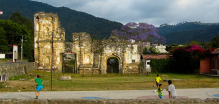 Shooting Hoops at Magic Hour Outside of Ruins | by Lea LSF