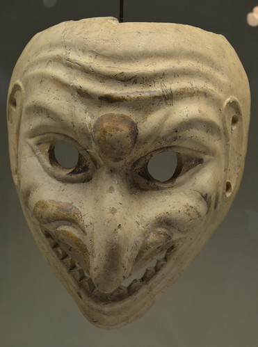 Large clay theatrical mask, Romisch-Germanisches Museum, Cologne | by Following Hadrian