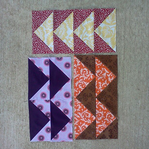 October do. Good Stitches flying geese blocks. | by jenniferworthen