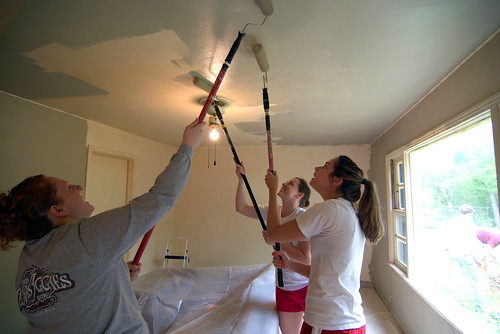 Big Event Volunteers Painting Ceiling