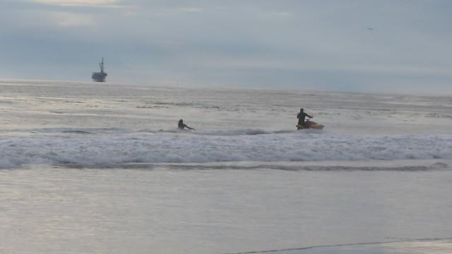 MVI_5168 jet ski pulling belly board lost when hop wave 15s