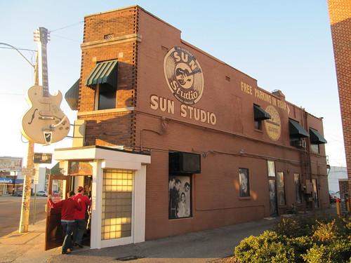 Memphis Sun Studios exterior 2   by Mr. Littlehand