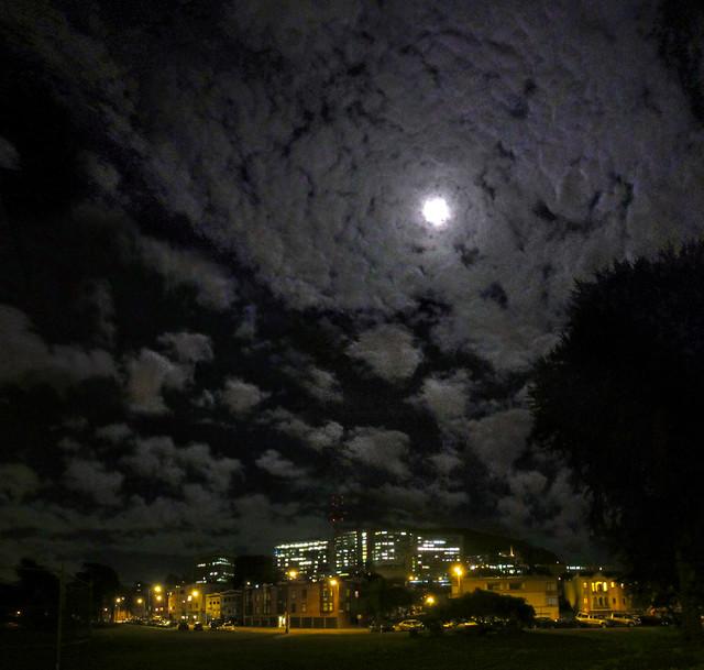 Moon over Kezar Triangle, 2013 San Francisco