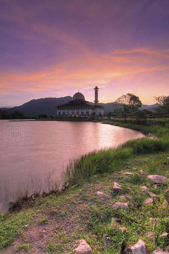 sunrise mosque malaysia hdr masjid amazingview jakim kualakububahru tokina1116 darulquran nikond7000 mohamadzaidiphotography ampangpechah