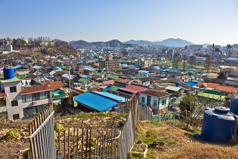 Colonial railway employee housing neighborhood, Suncheon, South Korea
