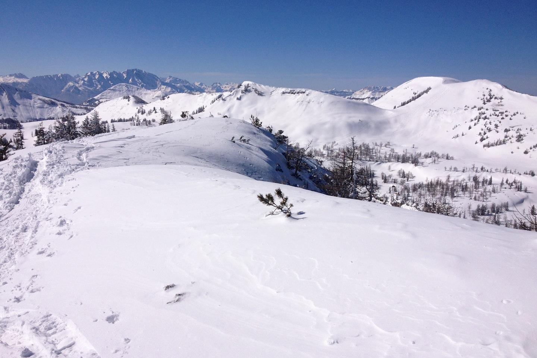 Malý a Velký Radl (v pozadí Berchtesgadenské Alpy)