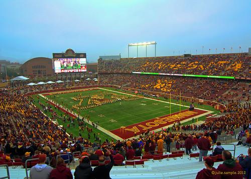 TCF Bank Stadium Homecoming 2012, University of Minnesota