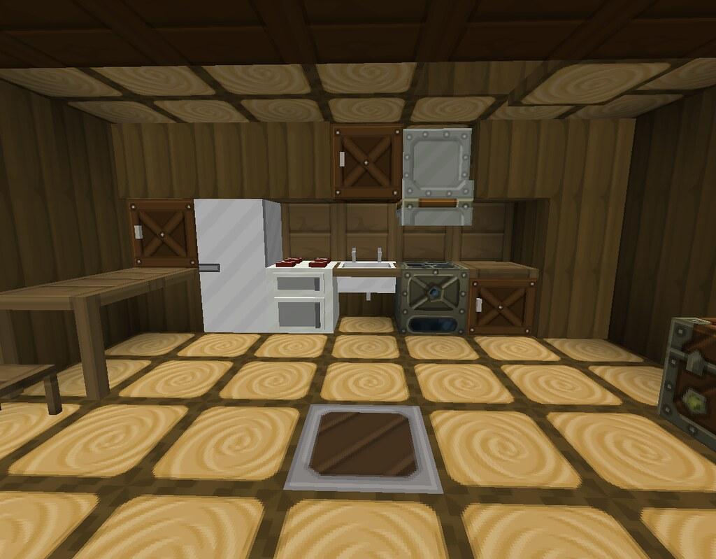 Minecraft Kitchen It S Where The Industrial Craft Corner Flickr