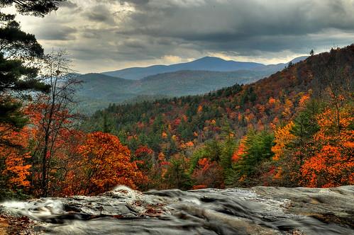from autumn fall view top viewfromthetop westernnorthcarolina glenfalls highlandsnorthcarolina northcarolinawaterfalls maconcountynorthcarolina