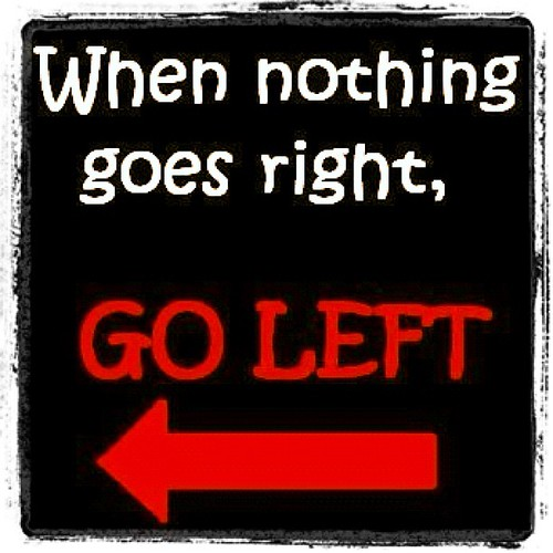 When nothing goes right,   ⬅⬅GO LEFT ⬅⬅ #onedirection #left #right #arrows #samratshahjan