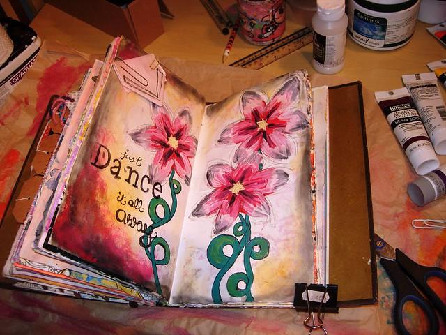 Art Journal Page Dance