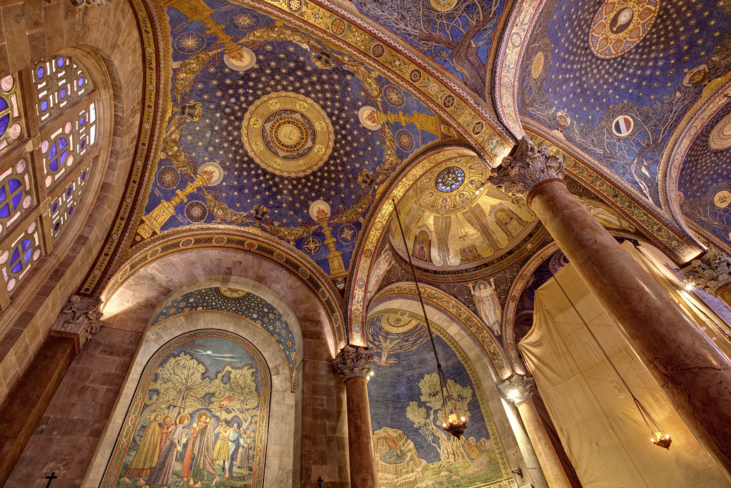 Image: Ceiling of the Church of All Nations