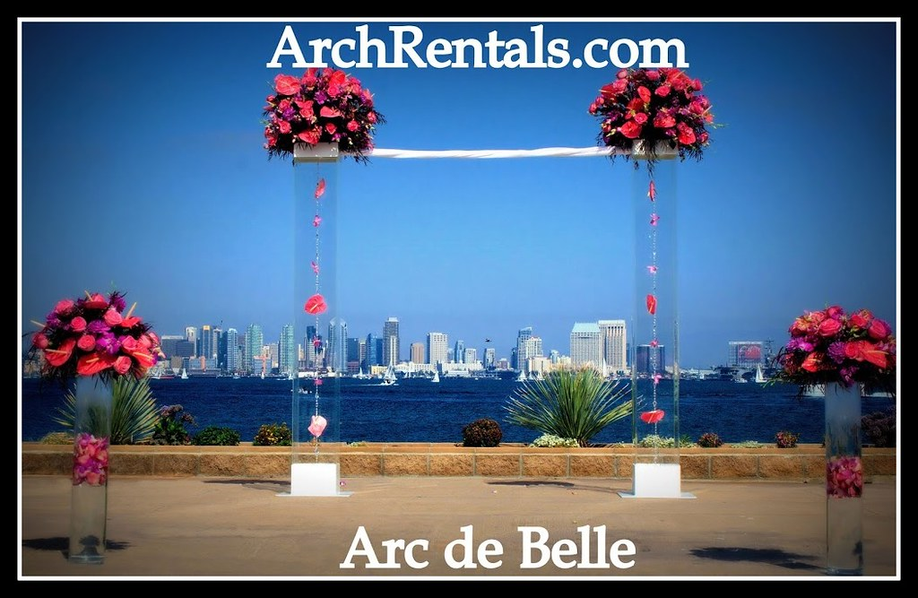 Acrylic Wedding Altar At Admiral Kidd San Diego By Arc De