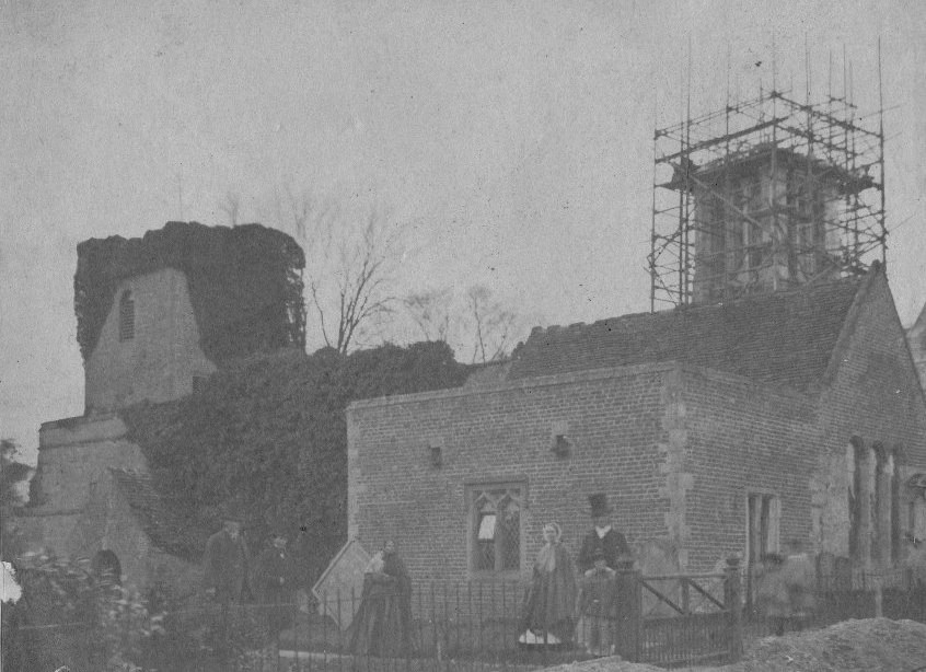 South Dalton Church under construction 1860 (archive ref PE54-11-2)