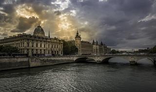 Sunset over la Conciergerie, Paris (Explored) | by Sorin Popovich