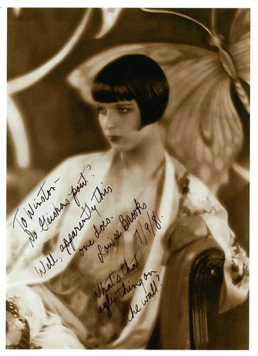 Louise Brooks Signed Photo
