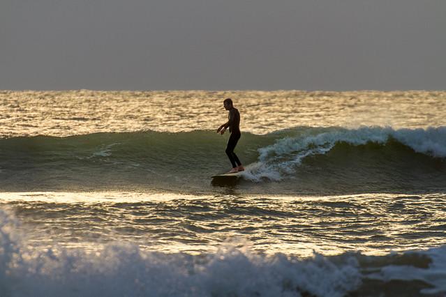 Sundown Surfer - Compton Bay, Isle of Wight.