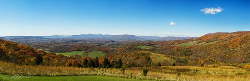 autumn panorama fall colors landscape nikon mountainlake
