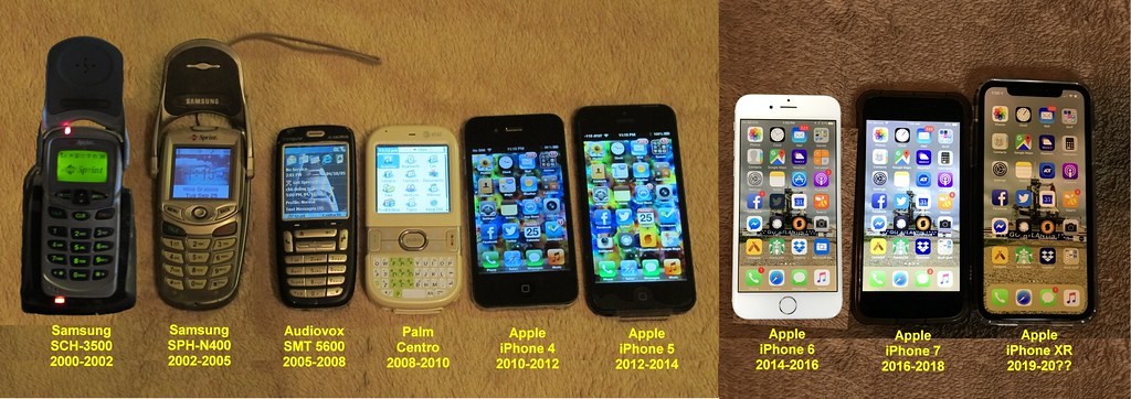 My cell phones, 2000-2019  I currently still own the four o…  Flickr