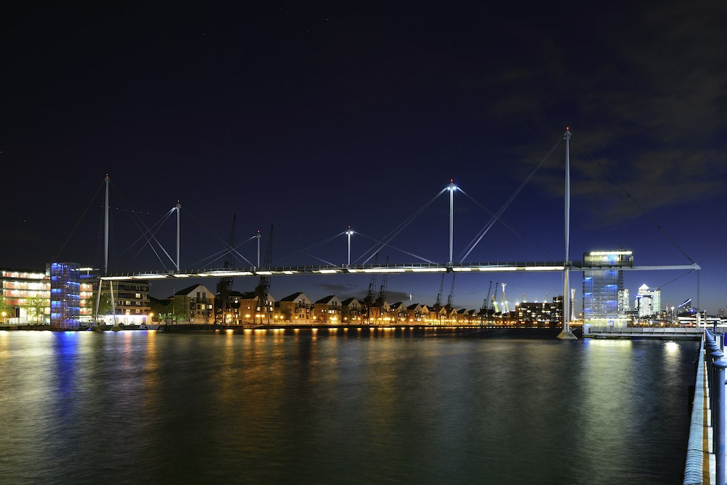 Royal Victoria Dock Bridge Pedestrian Bridge Over Royal Vi