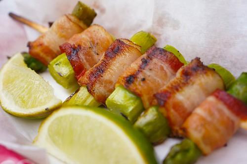 Safari Skewer (Bacon Wrapped Asparagus) $3.89