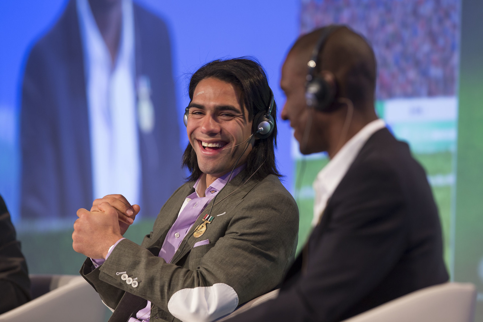 Radamel Falcao and Eric Abidal