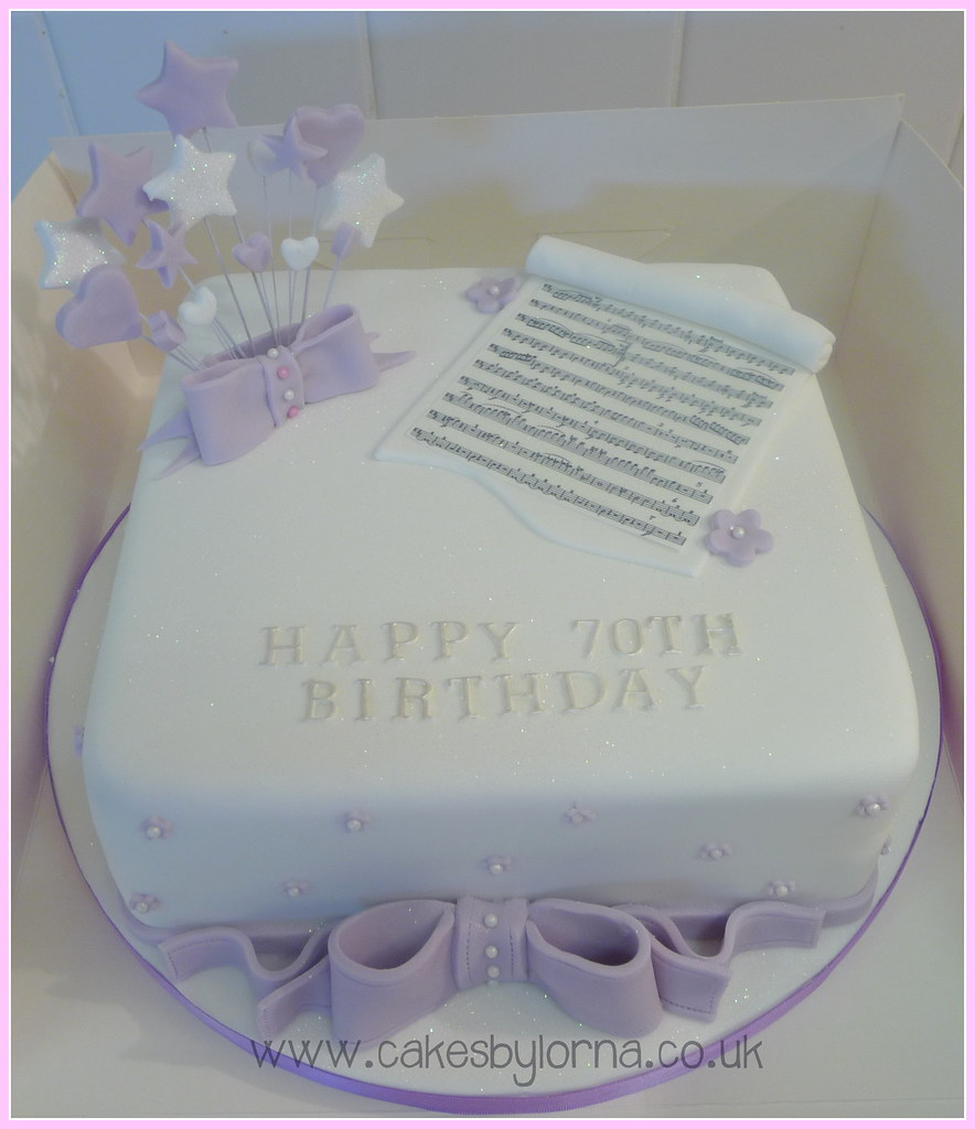 Cakesbylornacouk Ladies 70th Birthday Cake Music Theme