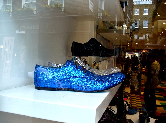 showcase shoe store in Carnaby Street