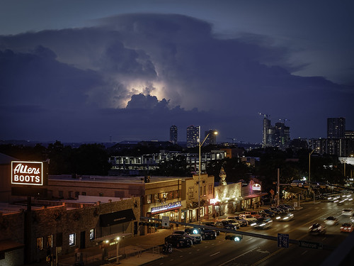 lightening storms austintexas austin clouds sunset texas