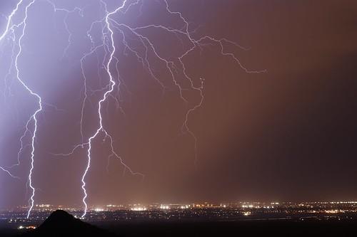 city arizona storm southwest nature phoenix weather night clouds landscape cityscape sony bolt strike thunderstorm lightning alpha a390 pwgen