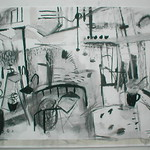 charcoal on paper 84x60cm  SOLD
