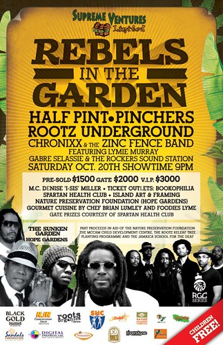 Rebels in the Garden poster | by half pint music
