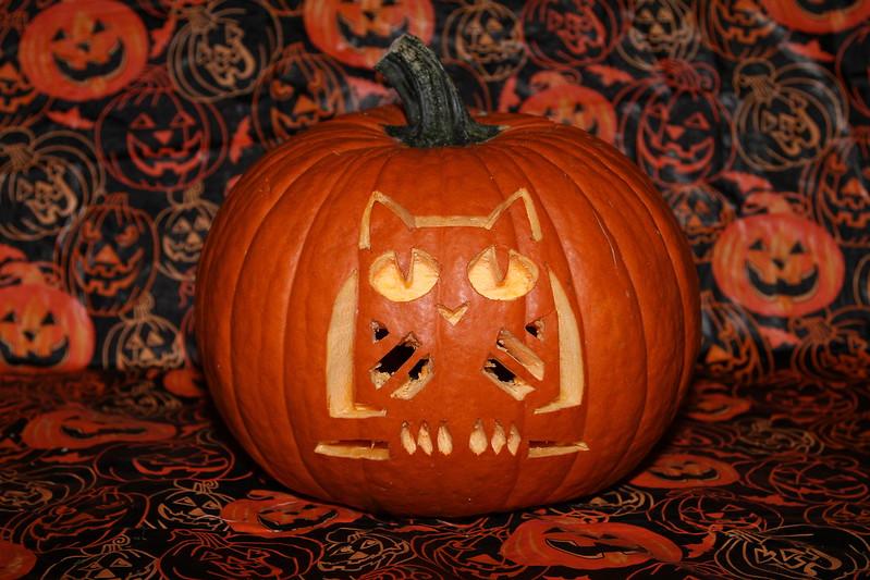 Halloween Carved Pumpkin (Unlit)