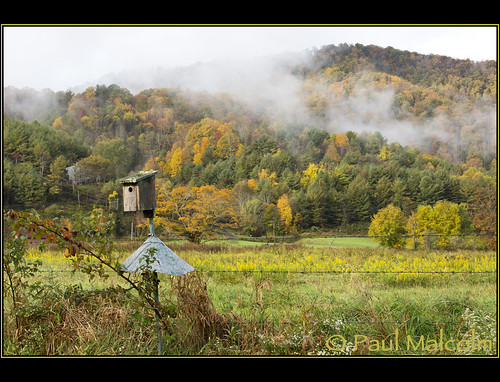 autumn autumnfoliage mountains fall leaves fog clouds nc fallcolors birdhouse northcarolina fallfoliage pasture valley autumncolor vallecrucis paulmalcolm