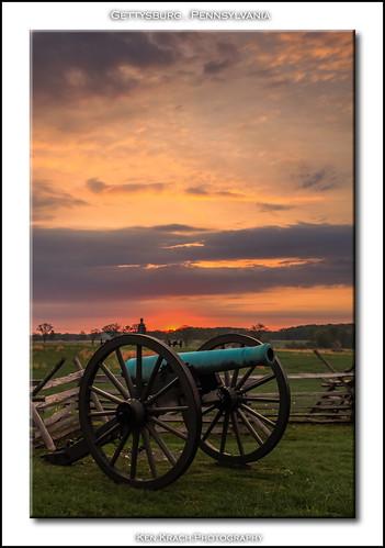 morning sunrise pennsylvania gettysburg civilwar battlefield