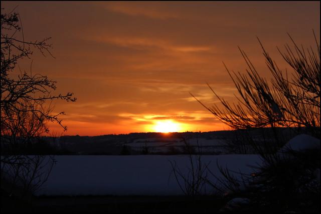 Sunrise over Hookergate, High Spen, Rowlands Gill