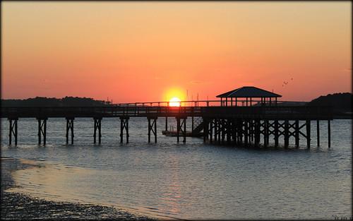 sunset southcarolina intercoastalwaterway hiltonheadisland portroyalsound skullcreek canoneosrebelt2i hudsonsonthedocks shannonroseoshea