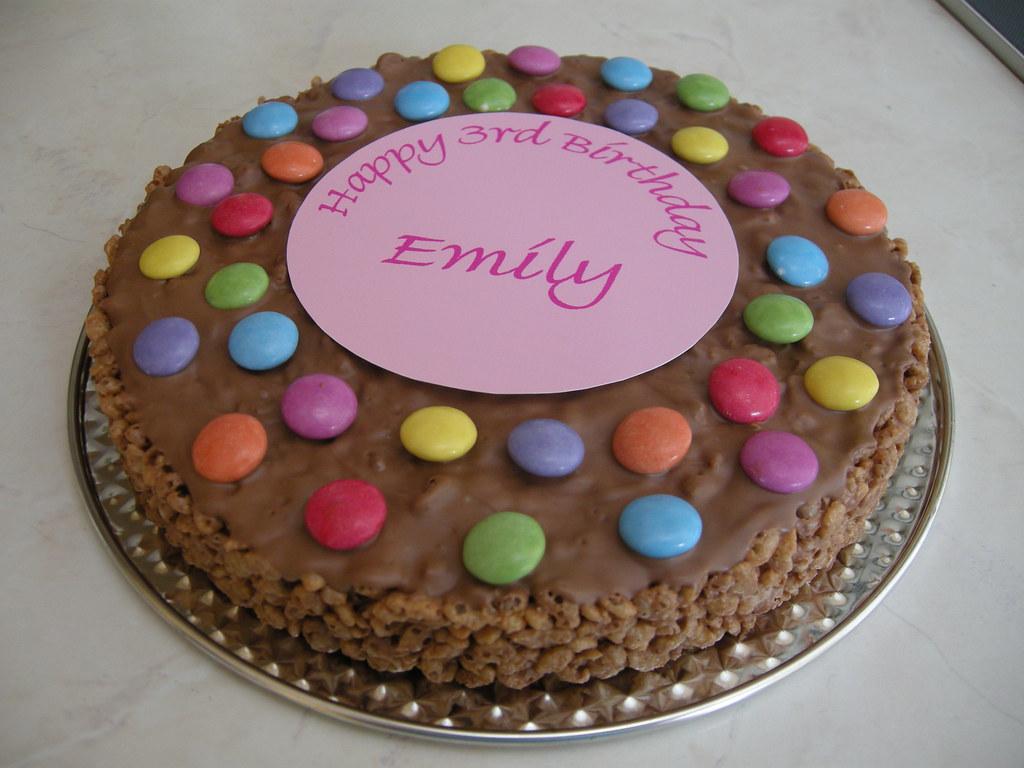 Super Rice Krispie Birthday Cake Quick And Easy Rice Krispie Cak Flickr Personalised Birthday Cards Cominlily Jamesorg