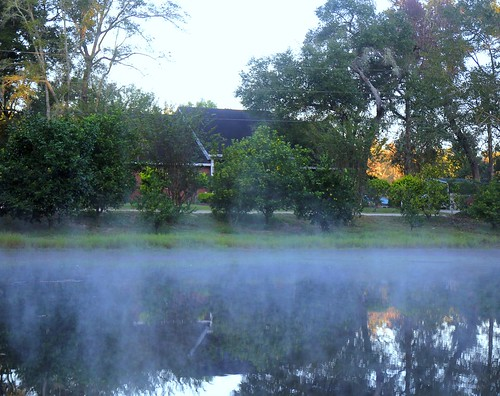 morning mist lake water fog sunrise pond