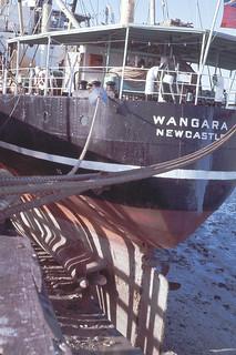 State Ship's TSMV Wangara on the Mud, Broome Jetty, Circa 1965