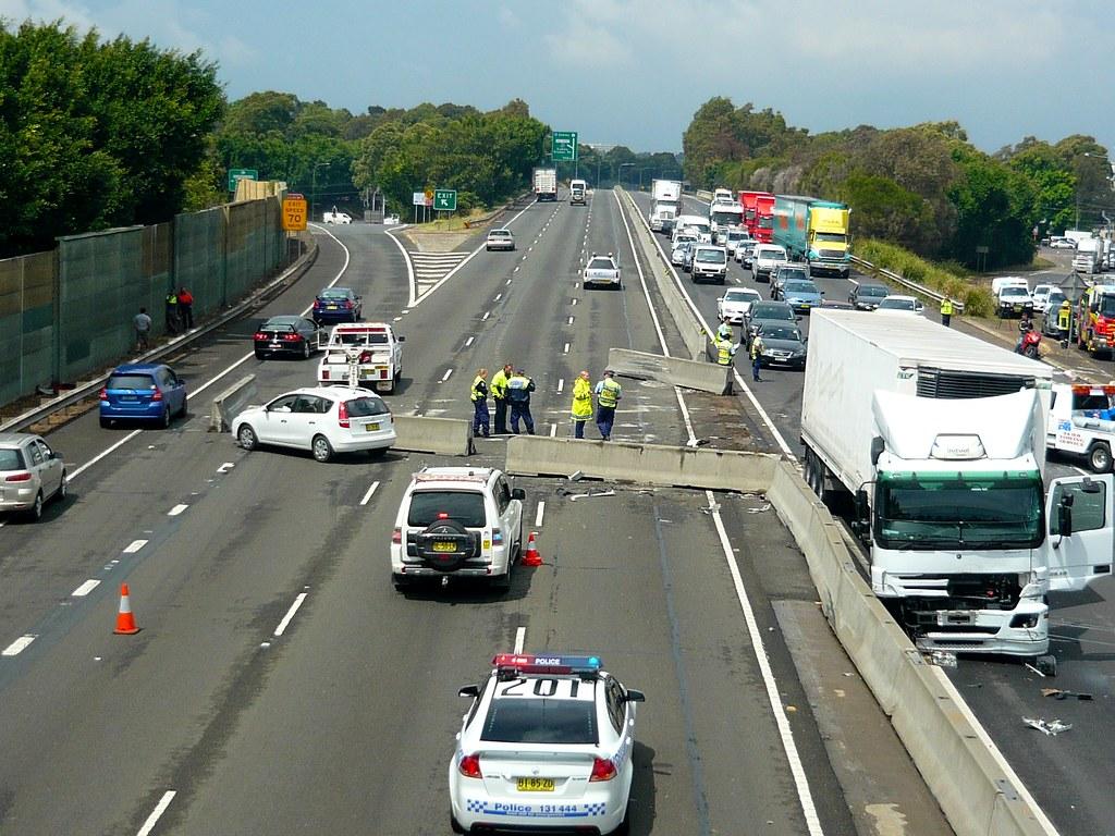 Multi vehicle accident - M4 Motorway, Sydney, NSW   Flickr - Photo