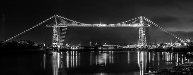 Newport Transporter Bridge B&W Cropped