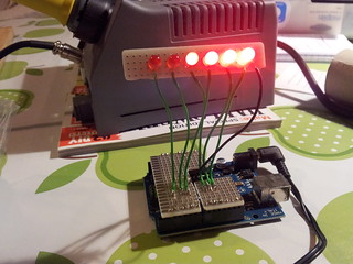 Larson scanner soldered up and ready for pumpkin   by lilspikey