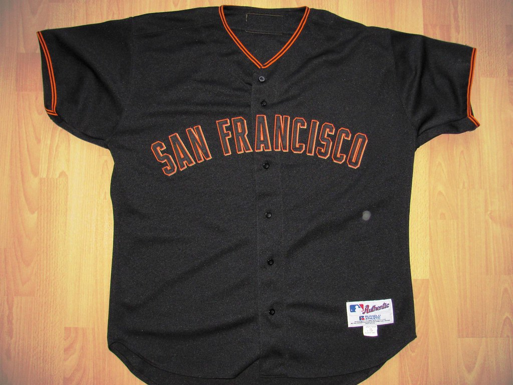 brand new 4d2f8 348af San Francisco Giants 2001 alternate road Game Worn Jersey ...