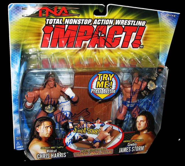 America's Most Wanted (Chris Harris & James Storm) Autographed MARVEL TNA IMPACT! Series 1 - 2-Pack Figures