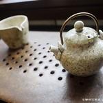 王文德-竹灰釉提樑壺+茶海+水口茶盤
