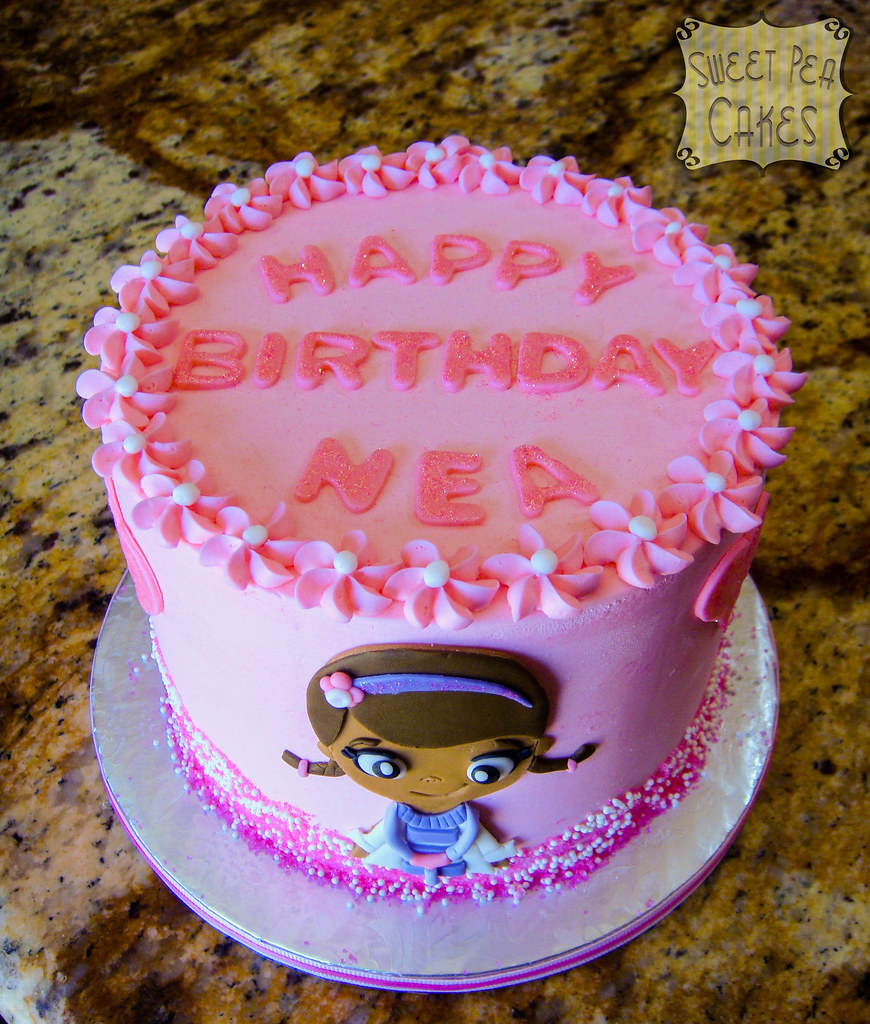 Pleasant Doc Mcstuffins Birthday Cake Cute Little 6 Inch Birthday C Flickr Birthday Cards Printable Nowaargucafe Filternl