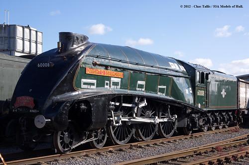 train railway steam a4 nationalrailwaymuseum countydurham britishrailways lner 462 dwightdeisenhower shildon gresley 60008